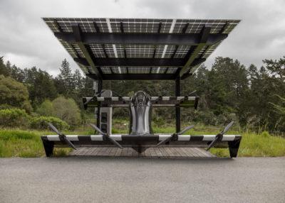 BlackFly eVTOL with solar charging station