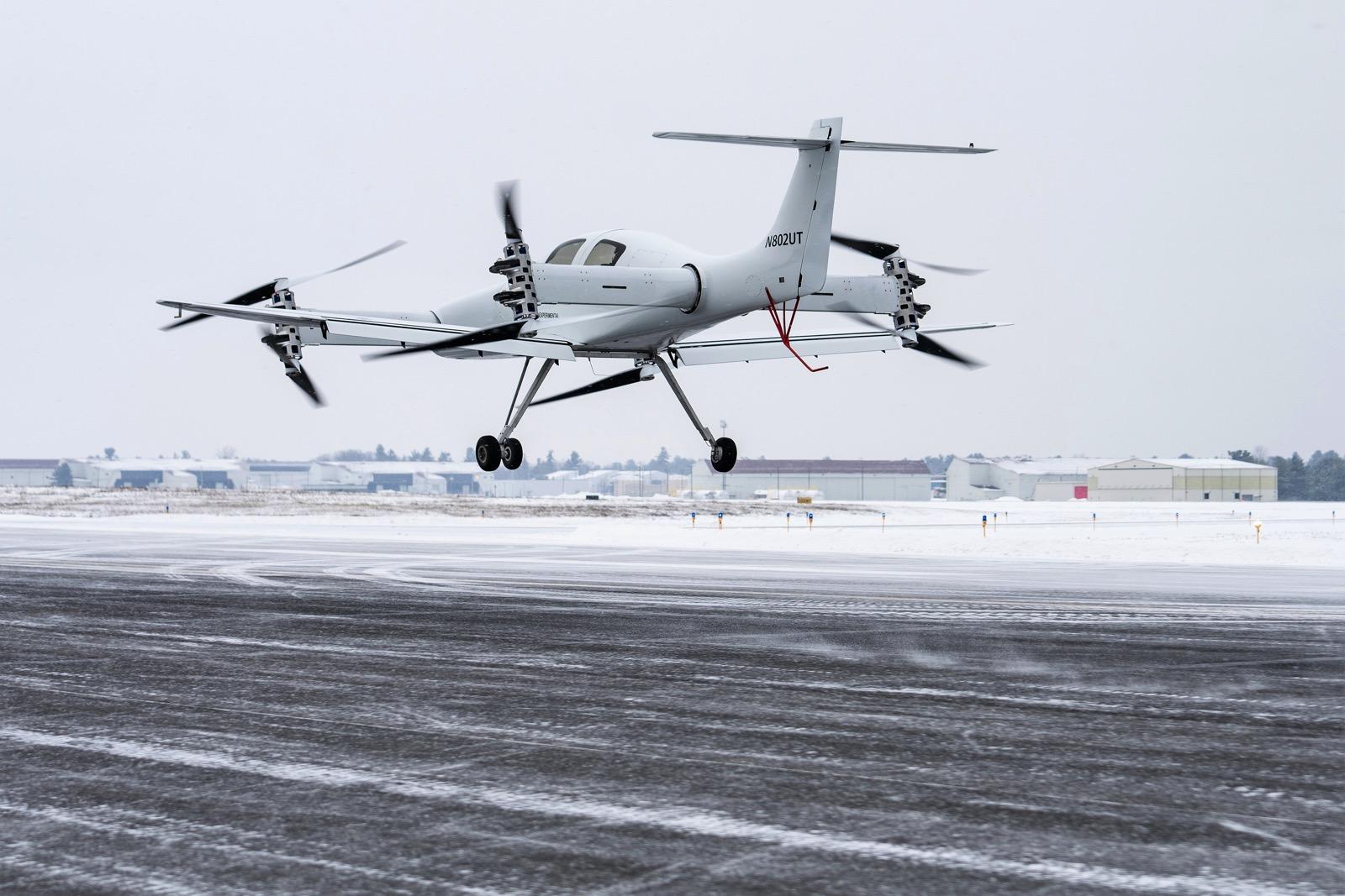 Beta Technologies Ava XC on takeoff