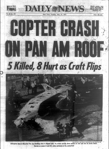 New York Daily News cover of helicopter crash