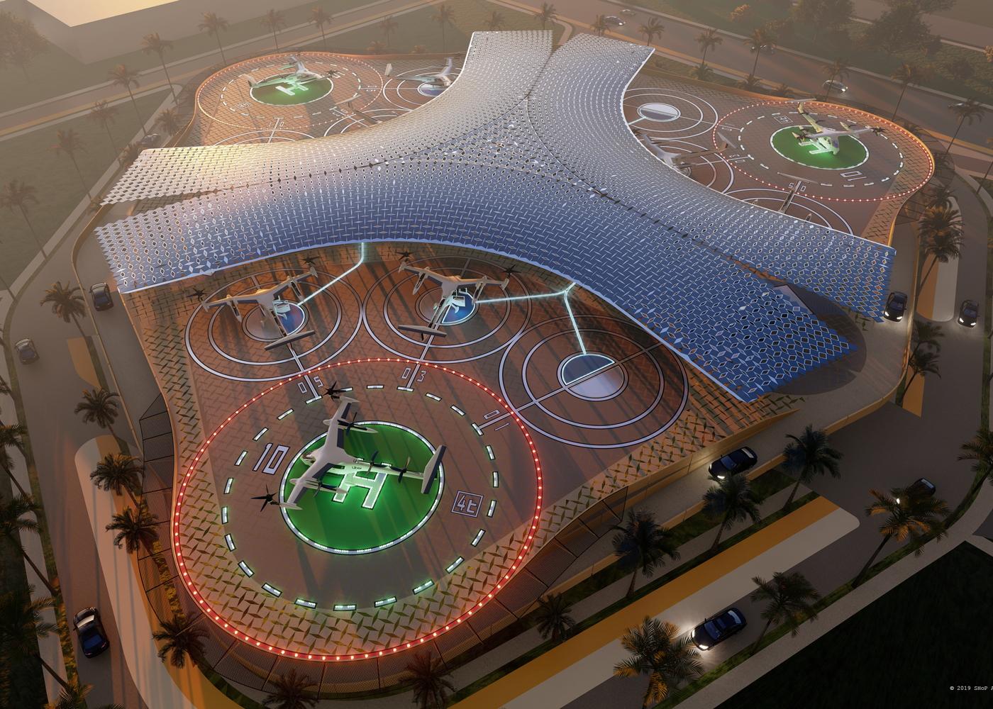 Uber Elevate skyport concept