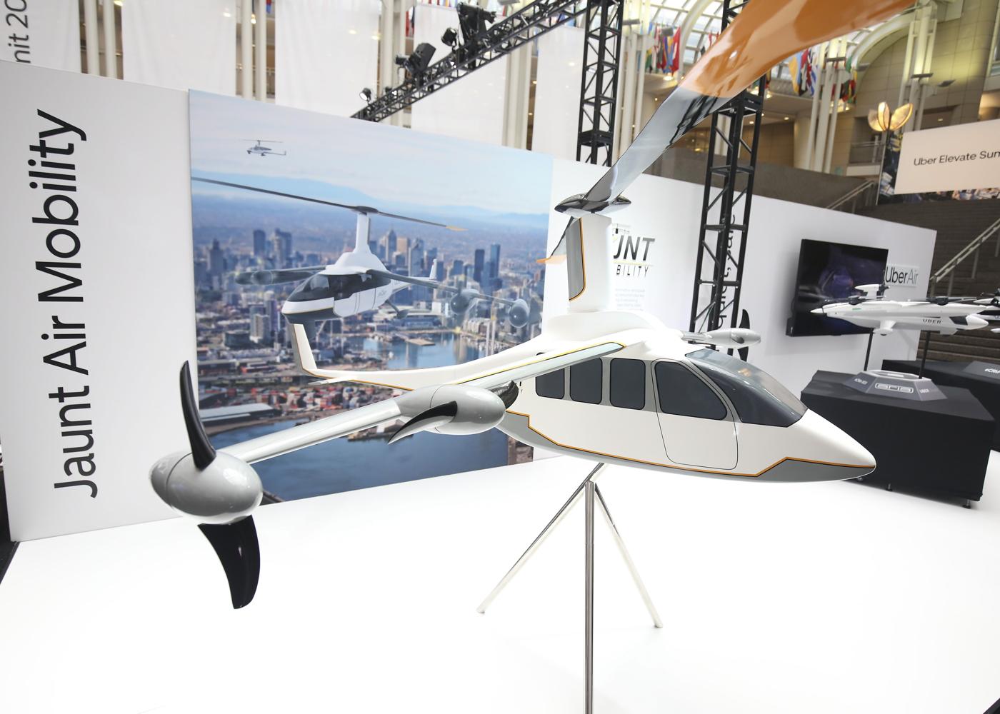 Jaunt Air Mobility eVTOL concept