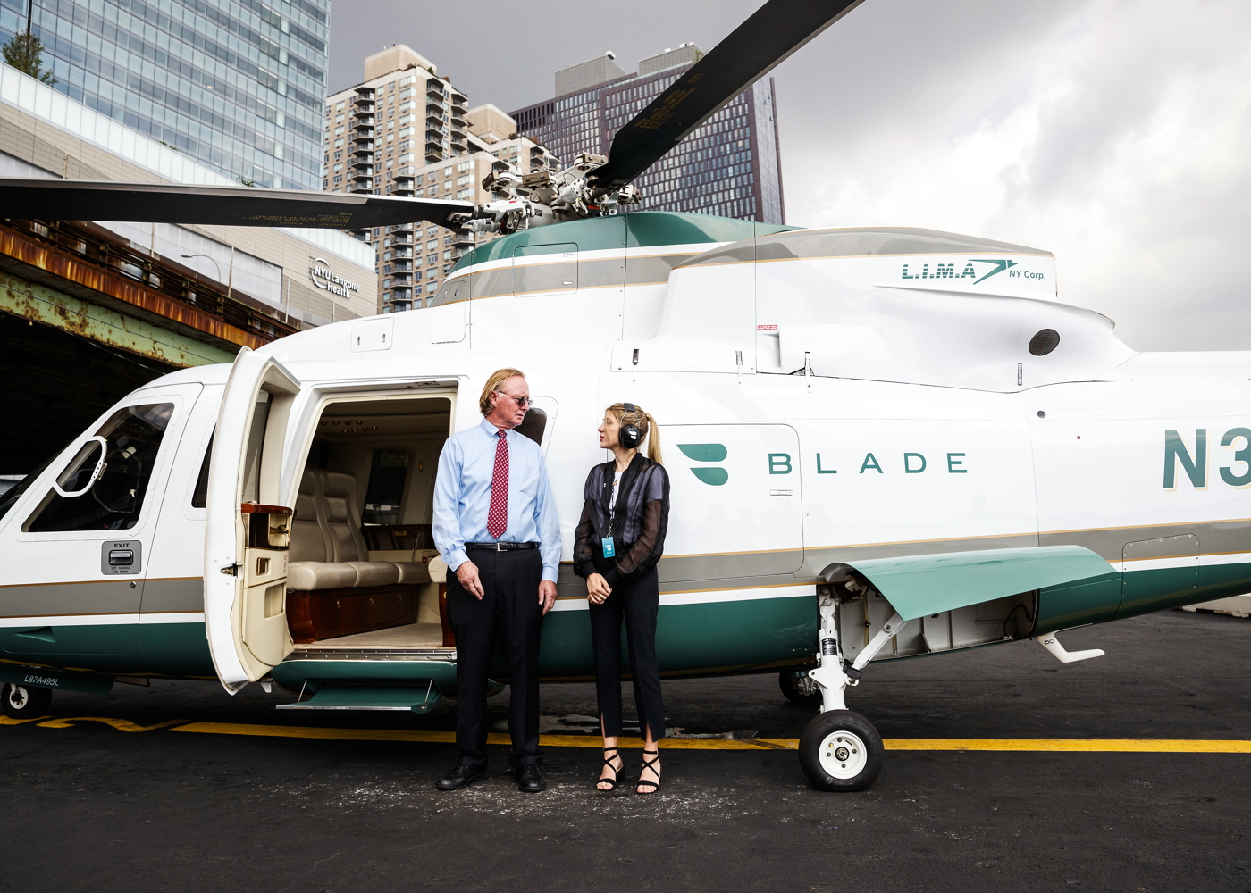 Blade helicopter ridesharing