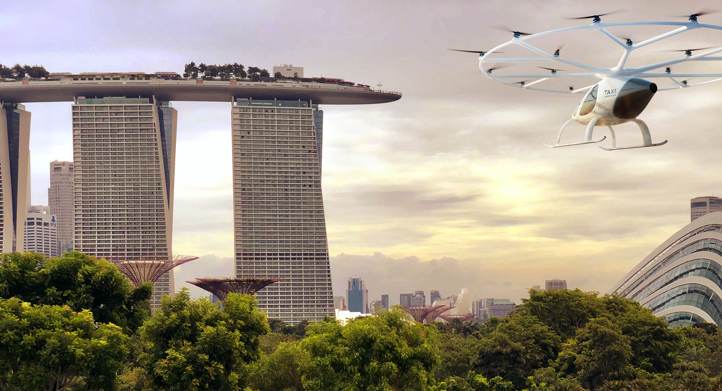 Volocopter eVTOL in Singapore