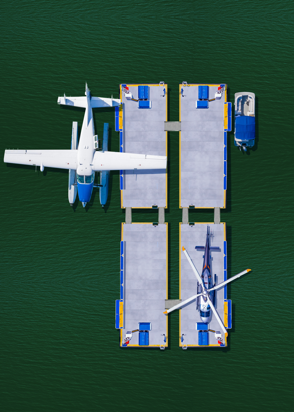 ILandMiami City Modular MUV with helicopter and seaplane