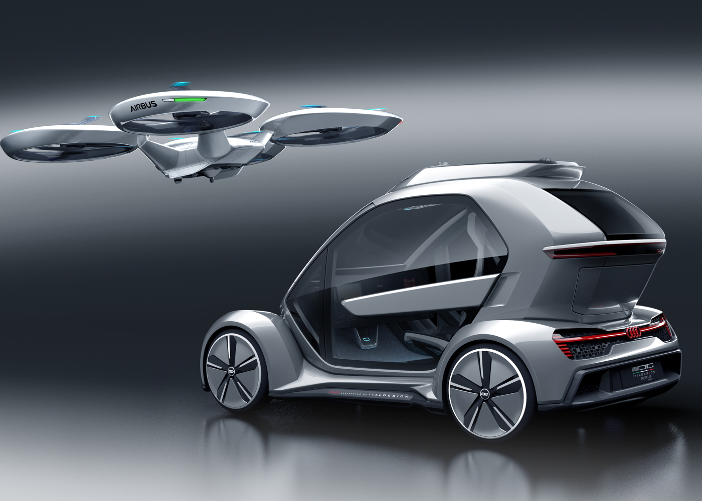Airbus, Audi and Italdesign Pop.Up Next