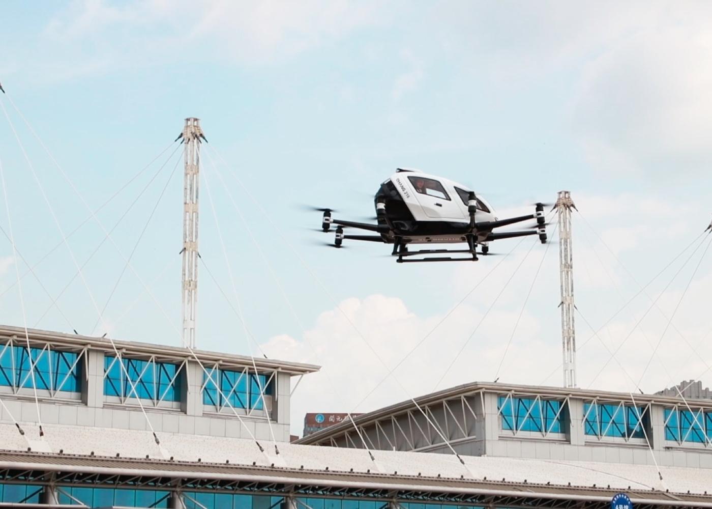 EHang 216 in flight