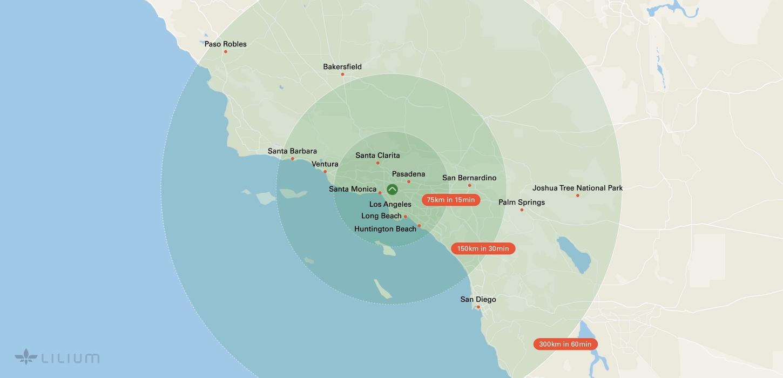 Lilium regional map