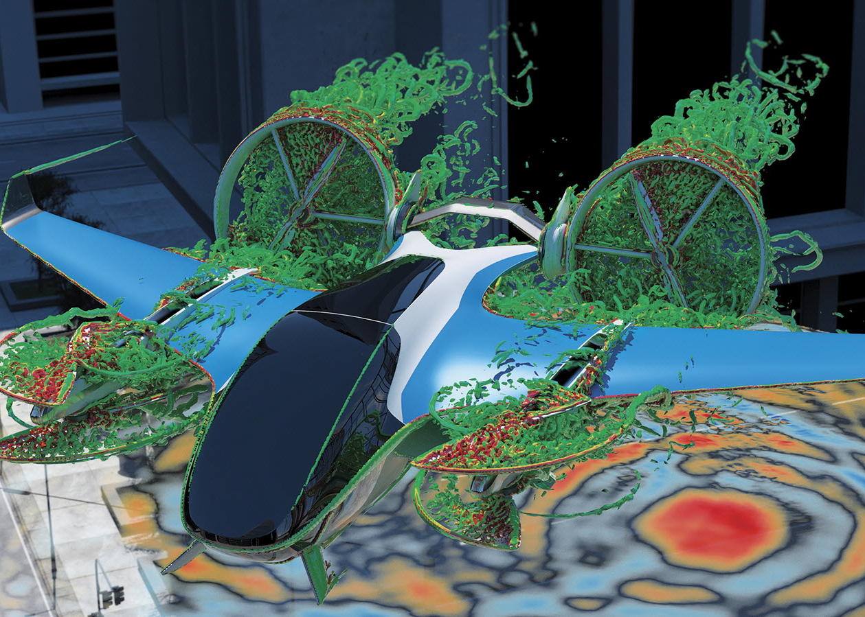 Dassault Systèmes eVTOL simulation
