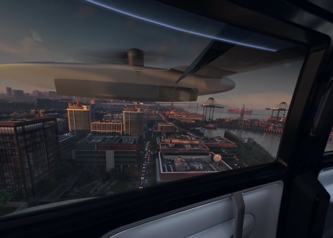 Uber air taxi cabin view