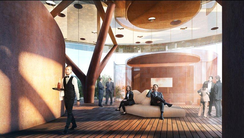 Leonardo urban air mobility lounge