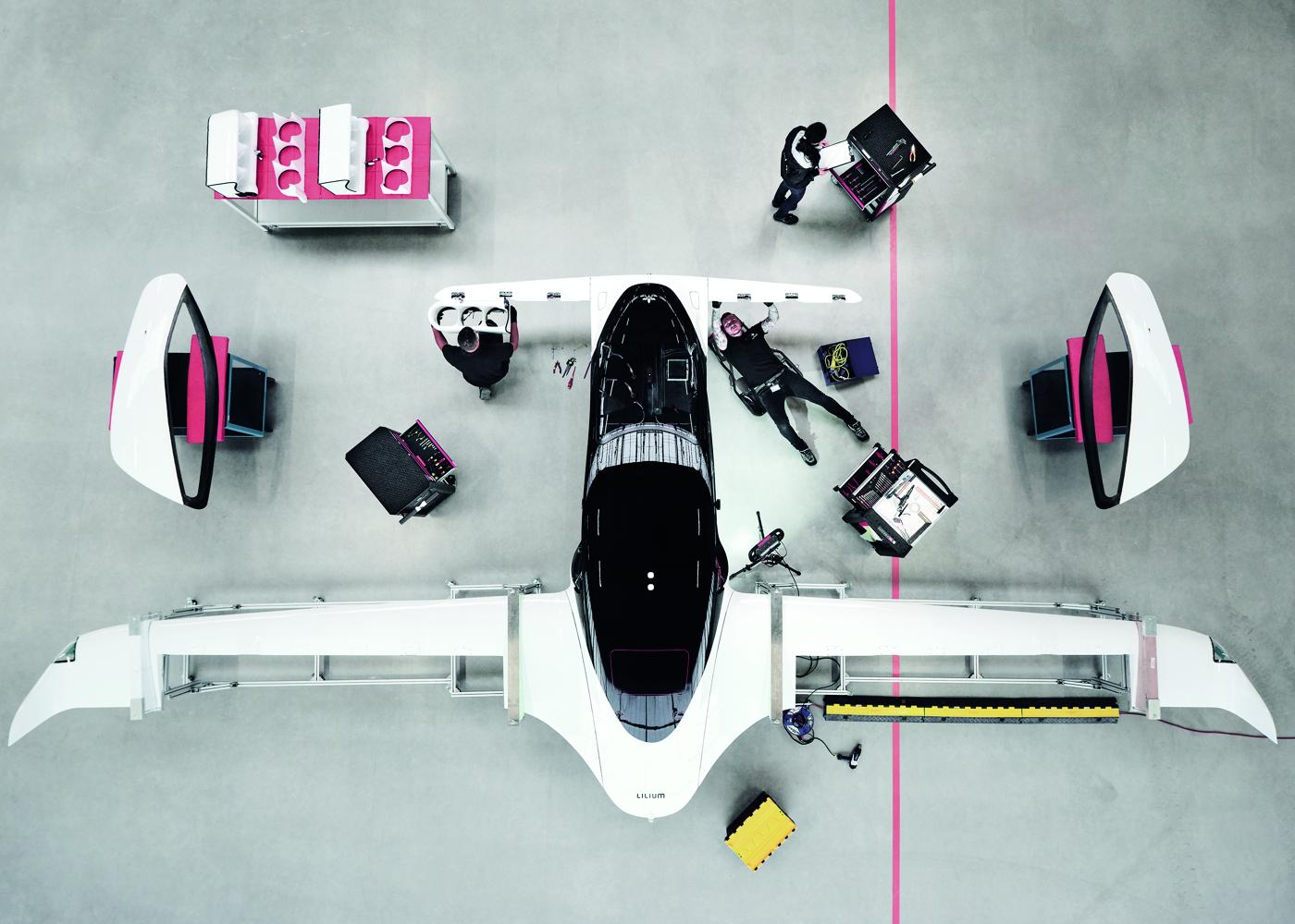 eVTOL Lilium Jet - overhead view