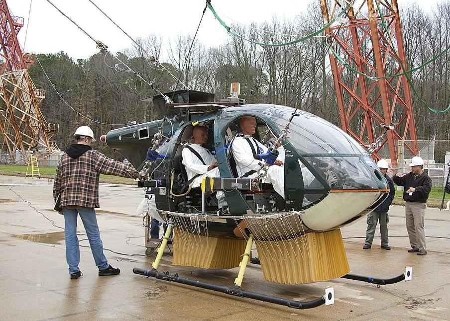 NASA deployable energy absorber for eVTOL crashworthiness