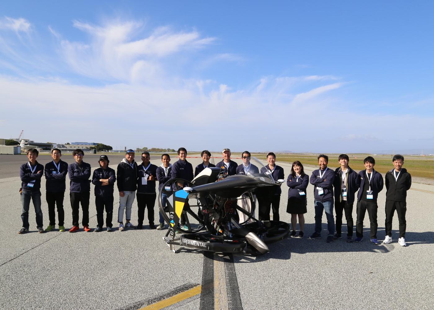 teTra Aviation team at GoFly Prize event