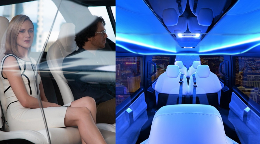 Westworld eVTOL air taxi cabin