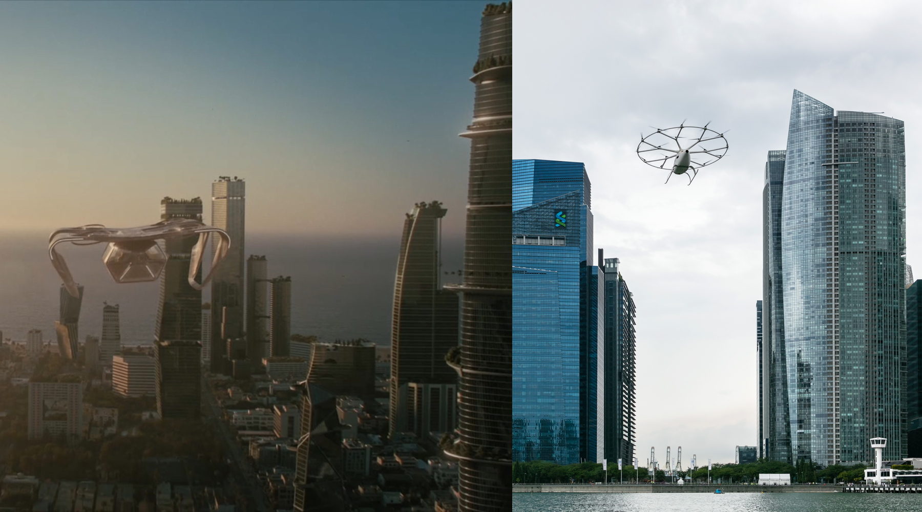 Westworld and Volocopter eVTOL air taxis