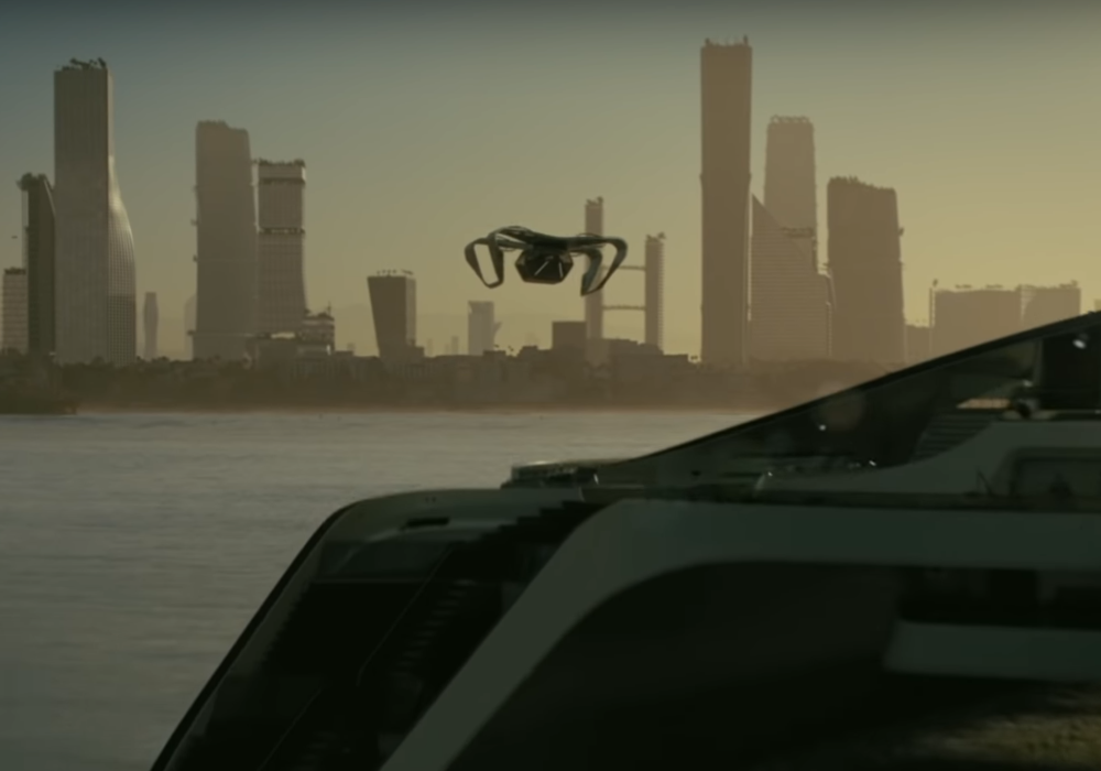 Westworld eVTOL with yacht