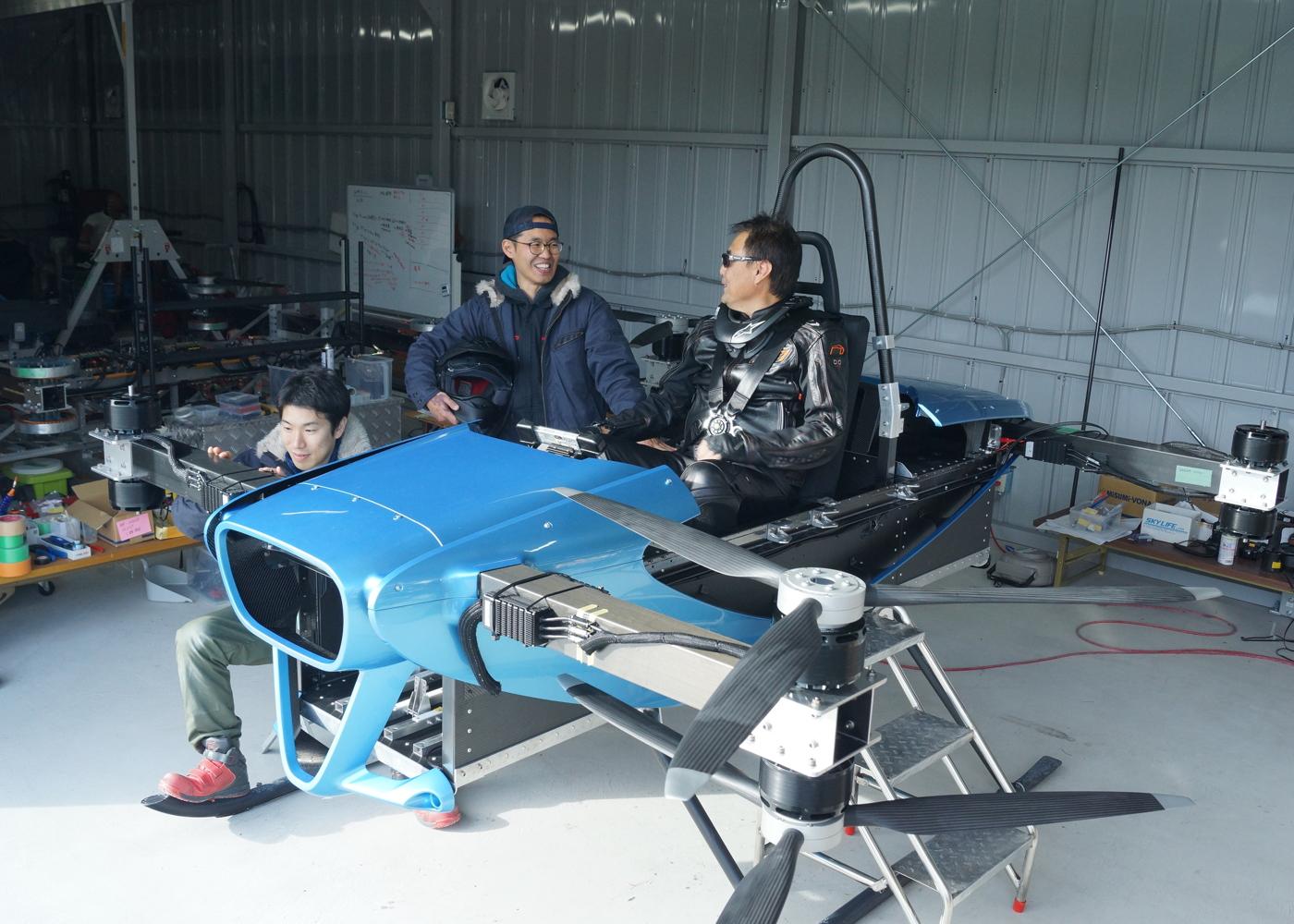 SkyDrive manned test flight