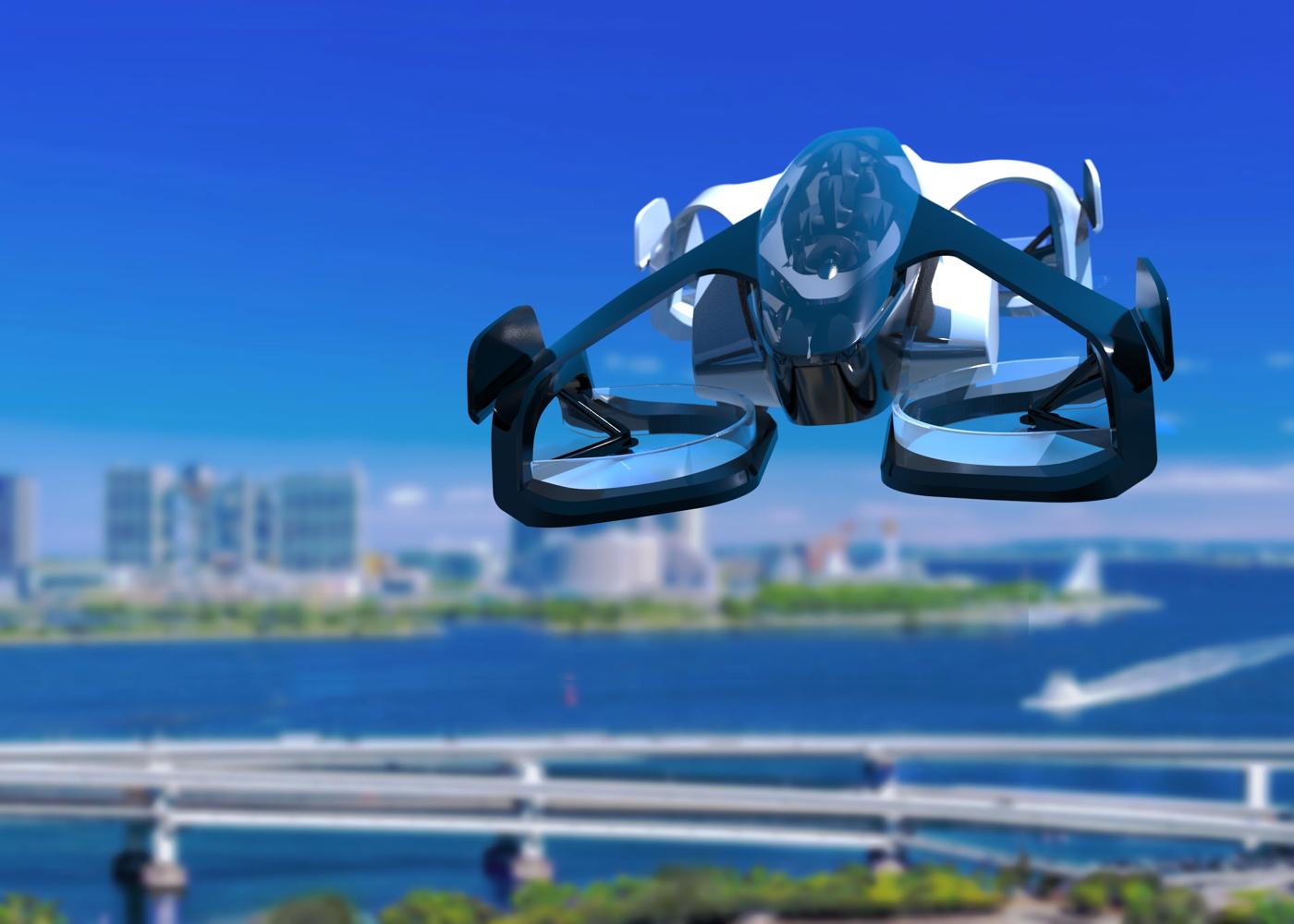 SkyDrive concept eVTOL