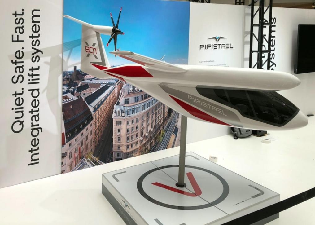 Pipistrel 801 eVTOL model at Uber Elevate