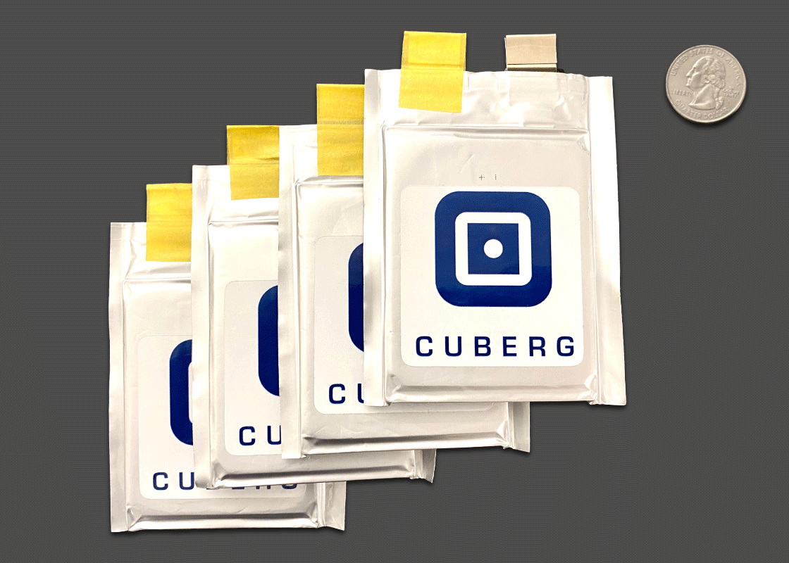 Cuberg lithium-metal battery cells