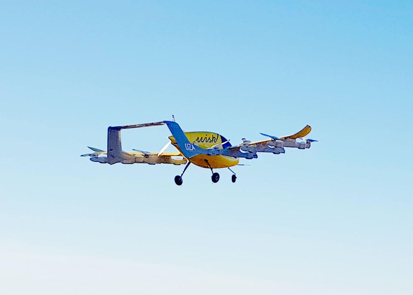 Wisk Cora eVTOL in flight