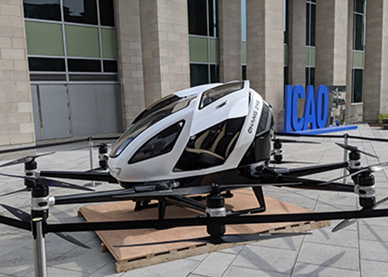 EHang 216 on display in Quebec