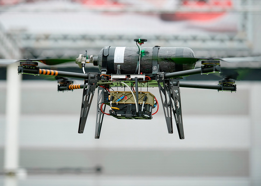 HyPoint hydrogen fuel cell on drone