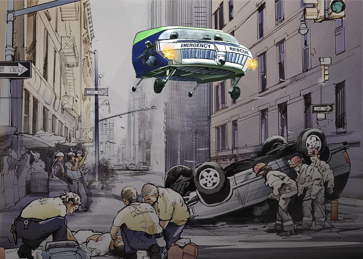 CityHawk EMS scene call