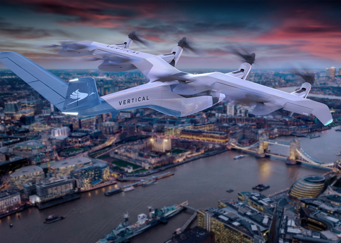 Vertical Aerospace VA-1X over London