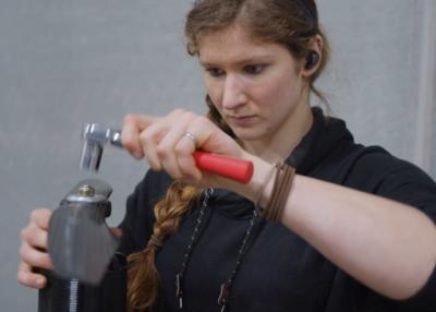 Airspeeder engineer Annie Mossman