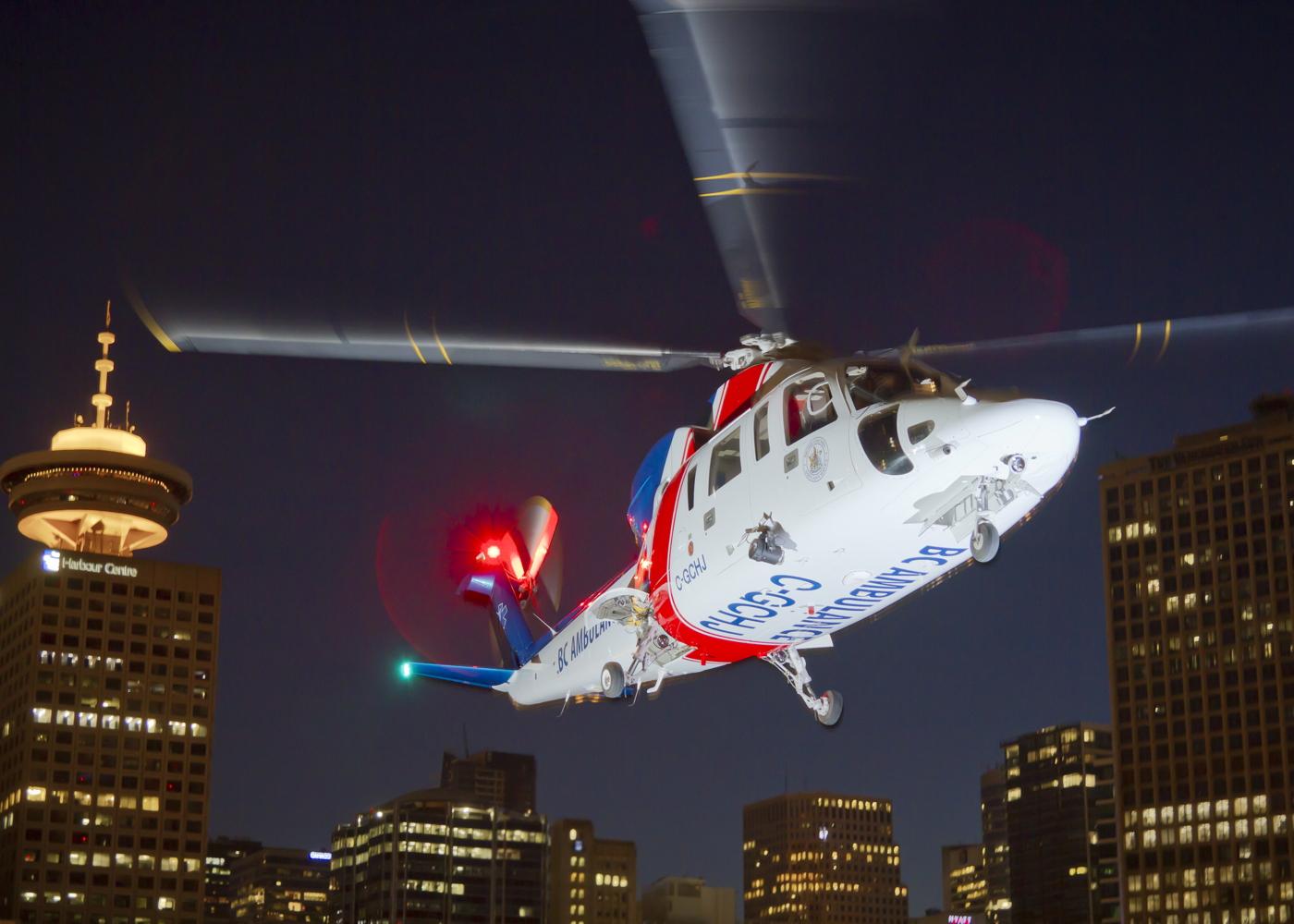 Helijet BC Air Ambulance helicopter