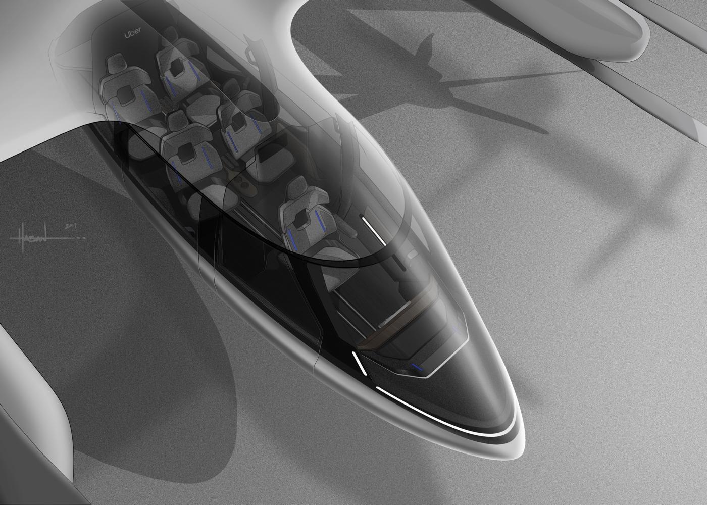 Hyundai SA-1 eVTOL air taxi cabin