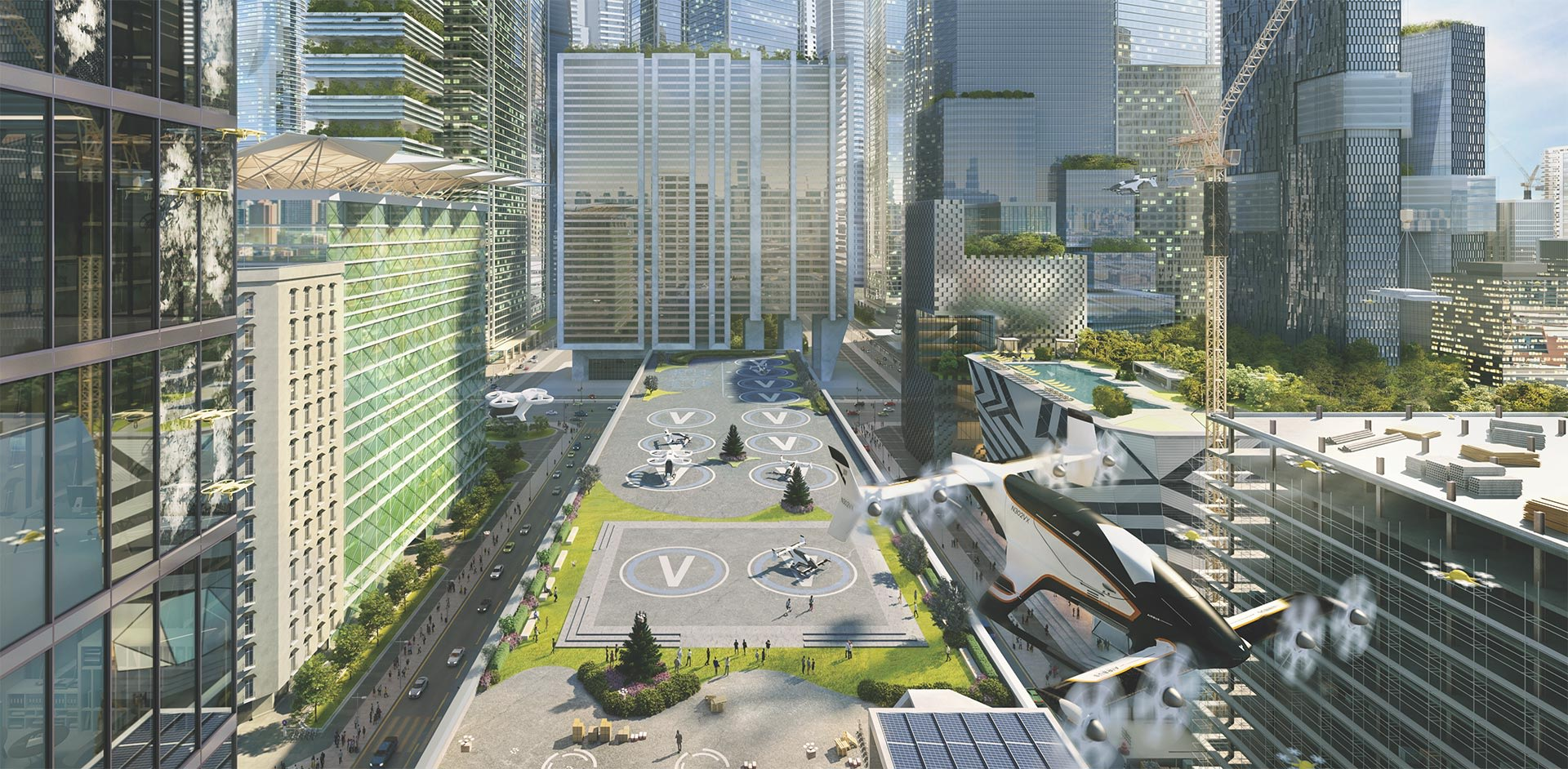 Airbus UTM futuristic concept