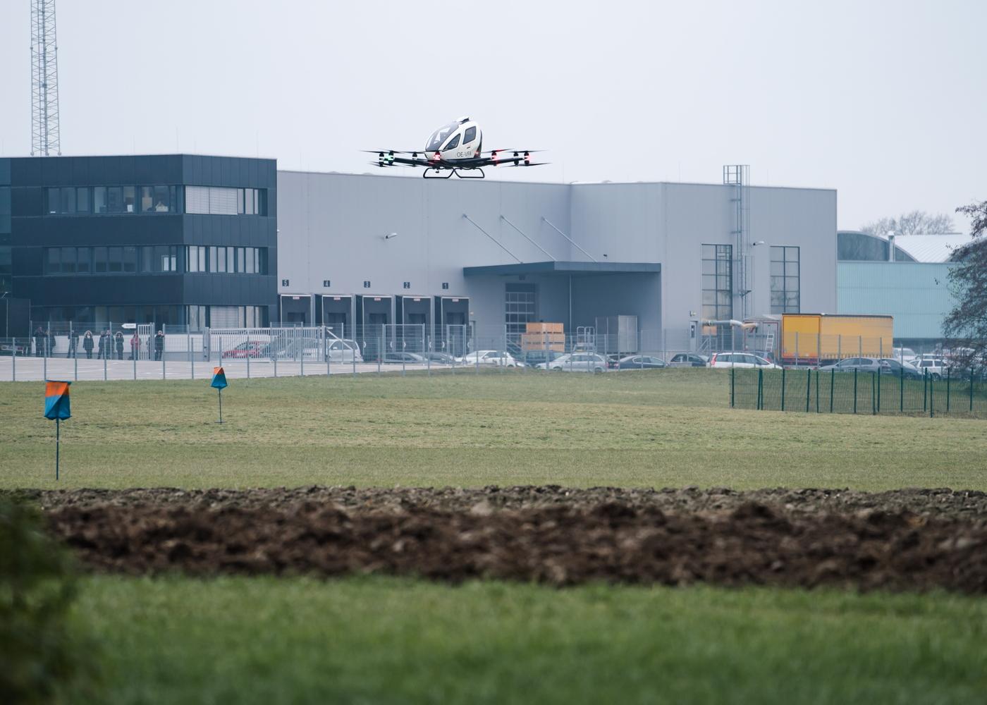 EHang FACC Austria test flight
