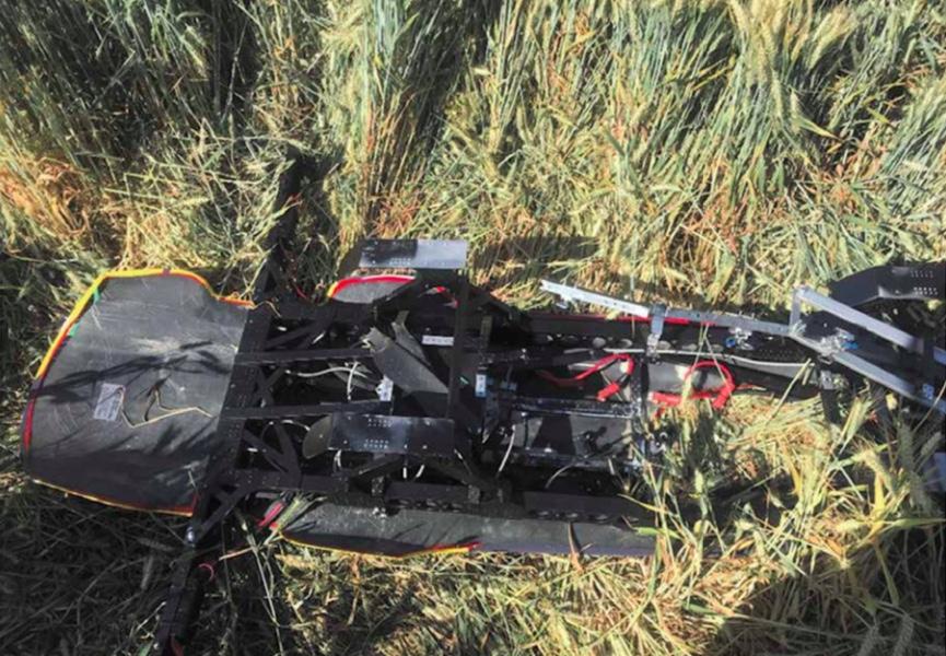 Airspeeder drone crash wreckage