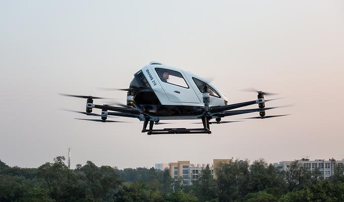 EHang EH216 in flight