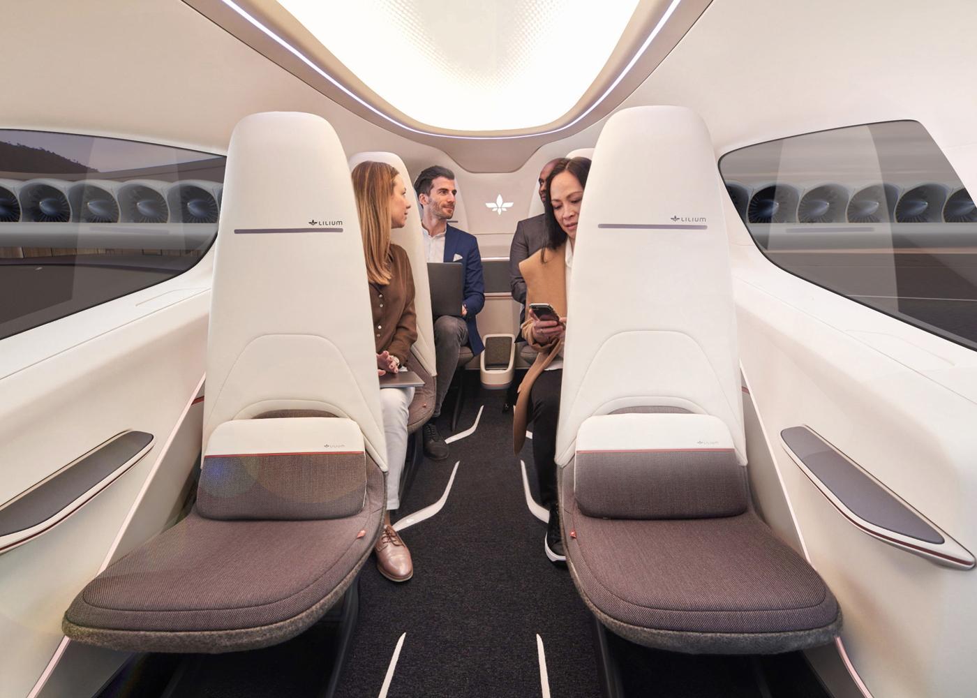 Lilium 7-seat eVTOL cabin