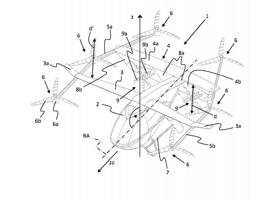 Volocopter patent eVTOL