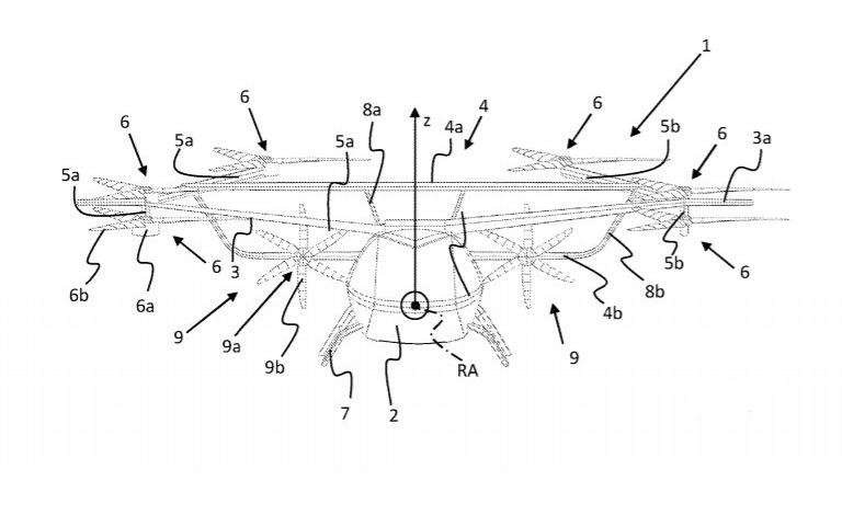 Volocopter winged eVTOL patent