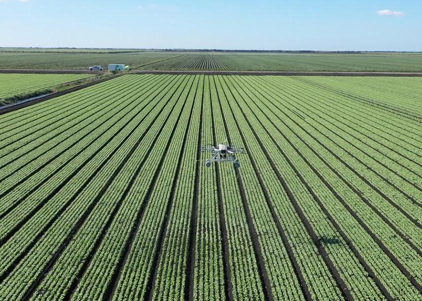 Guardian eVTOL over crops
