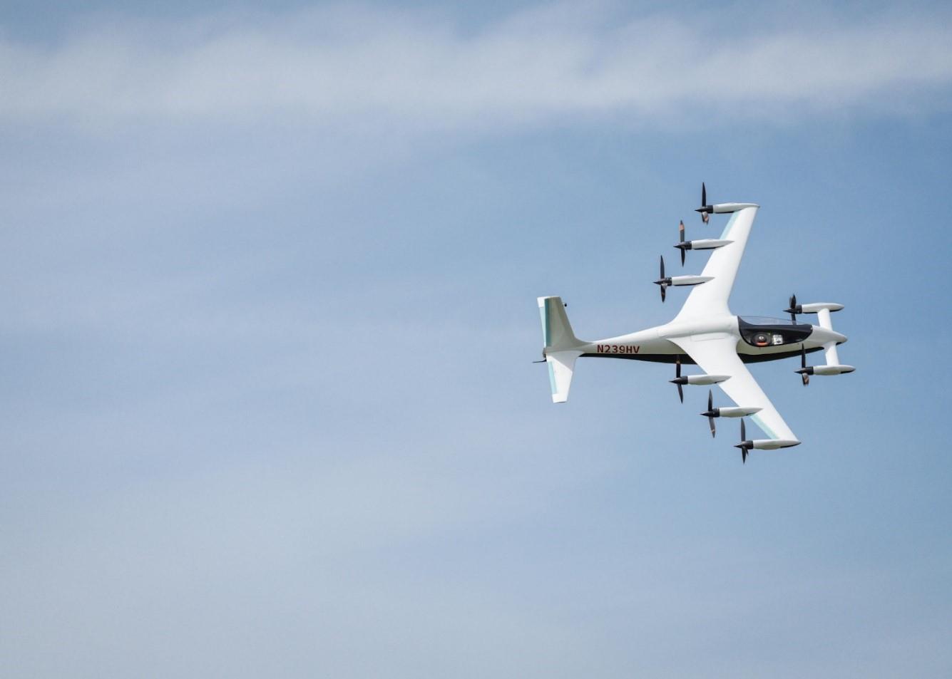 Kitty Hawk Heaviside in flight