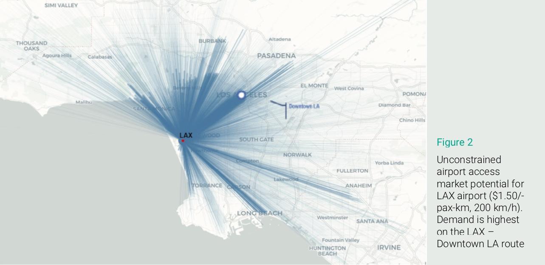 Eve LAX urban air mobility demand