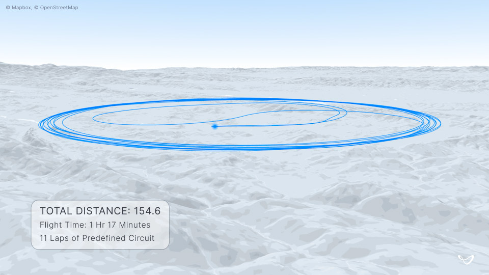 Joby 150-mile flight path