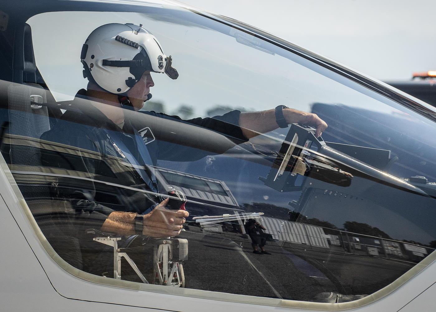 Beta Alia eVTOL test pilot